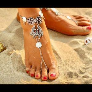 NEW ITEM! Silver Boho Swim Foot Ankle Jewelry